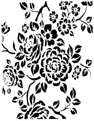 Vintage Wallpaper 1 stencil