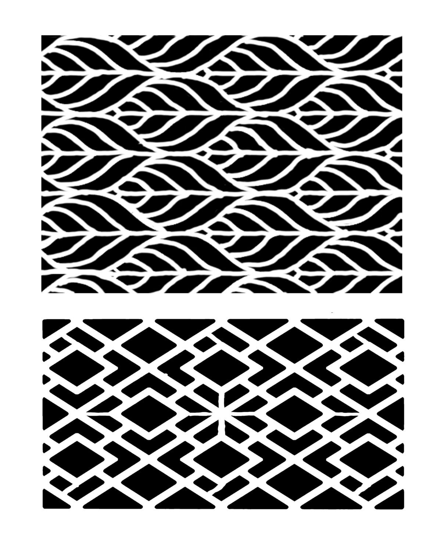 Geometric Duo stencil