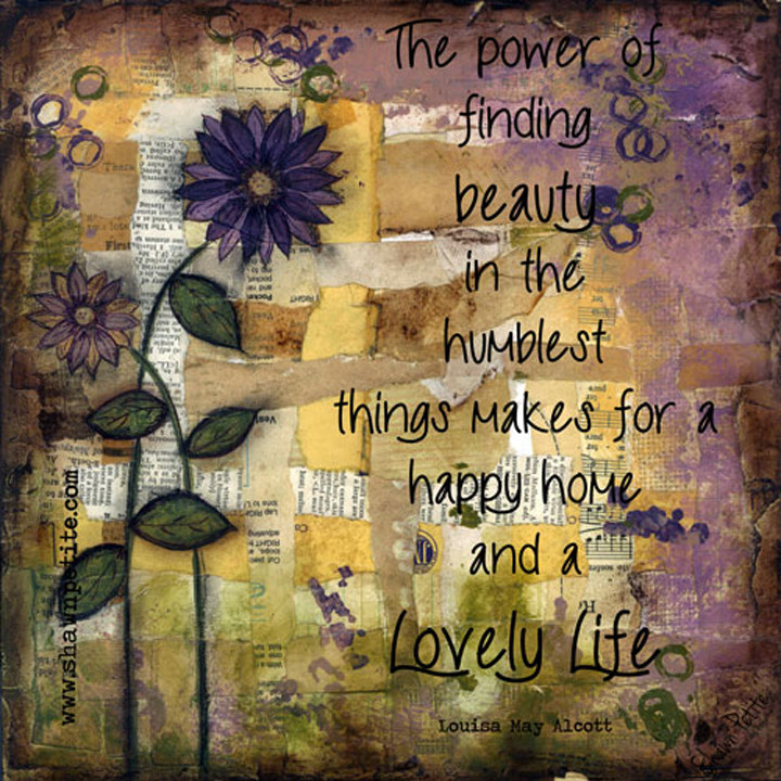 """""""Happiness"""" flower print of the original on wood"""