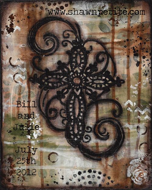 Cross swirl customizable 8x10 print on wood panel