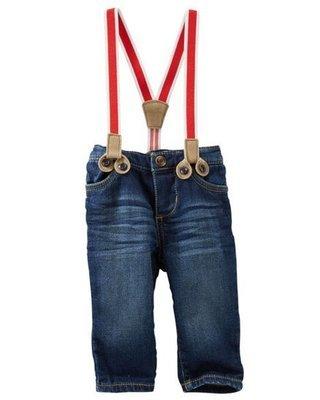 Jeans con tirantes, 6 meses