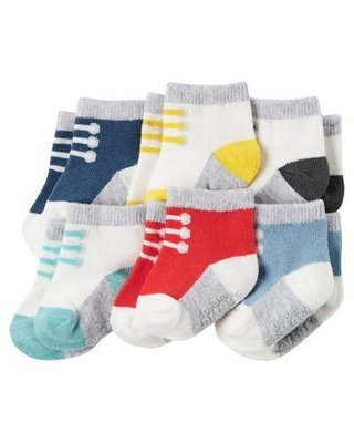 Set 6 calcetines, 3-12 meses