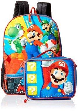Mochila + Lonchera Mario Bros