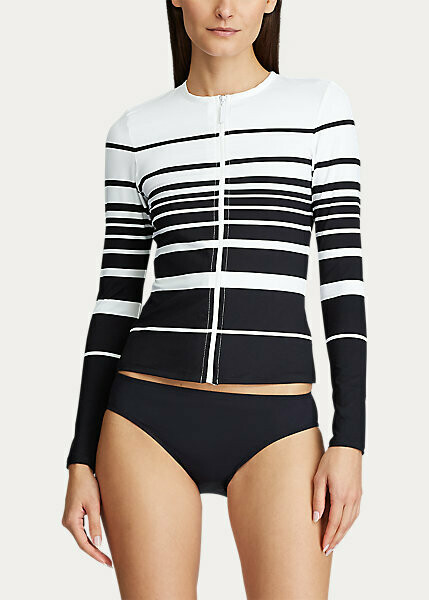 Lauren Gradient Stripe Long Sleeve Rashguard