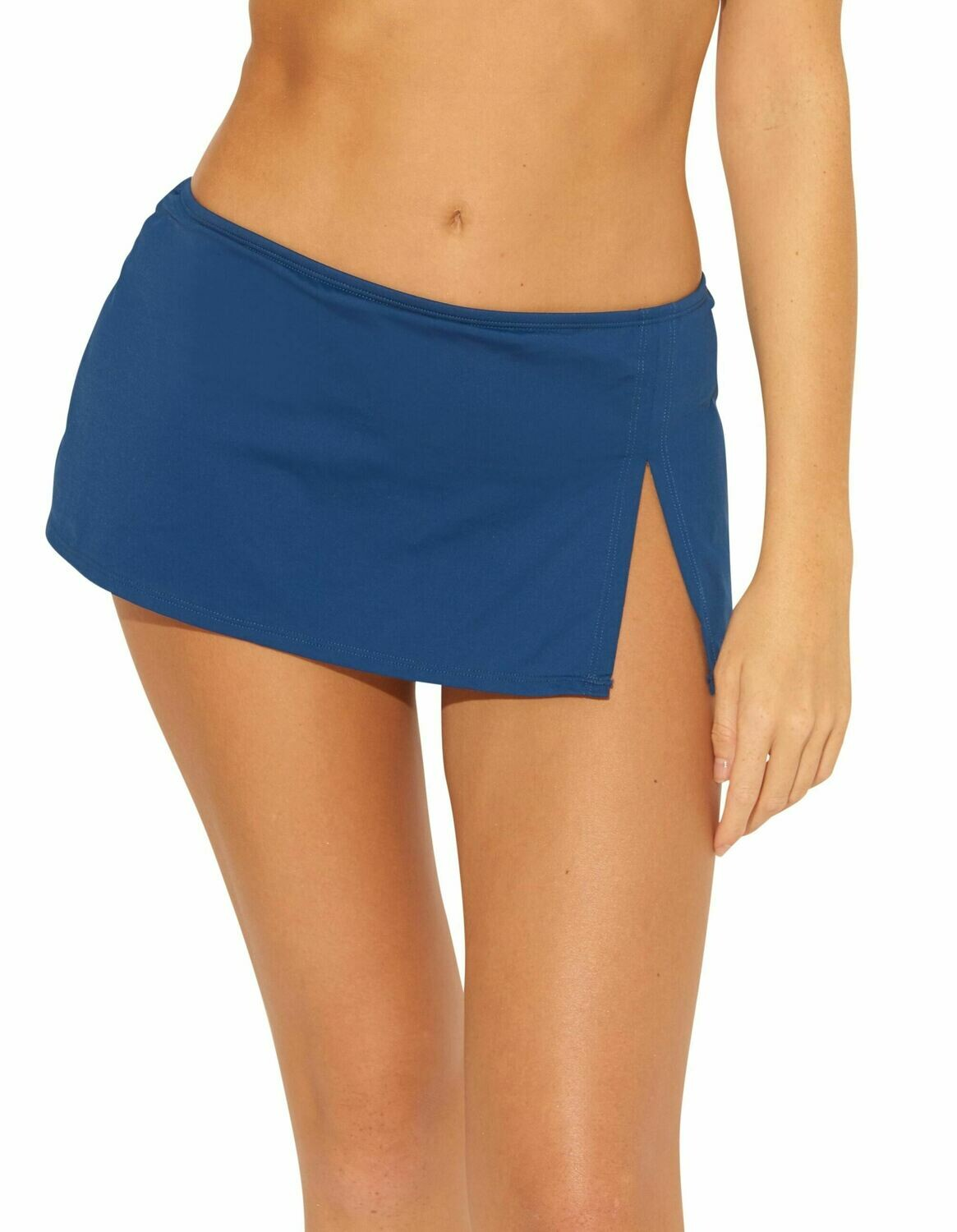 Bleu Solid Skirted Hipster