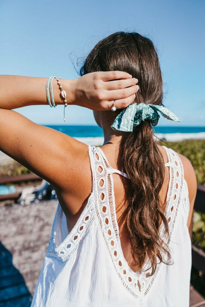 Lotus and Luna Scrunchie with Bow