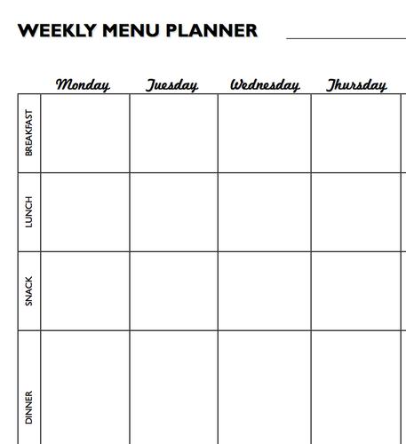 Meal Plan Worksheet Printable - Mom it ForwardMom it Forward