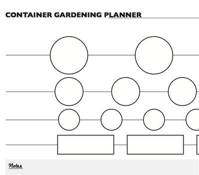 Container Gardening Planner Worksheet