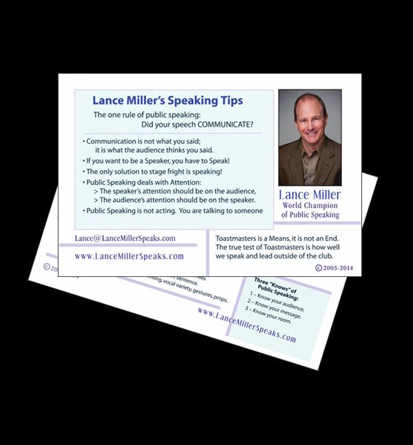 Tips Card - On Speaking 60001