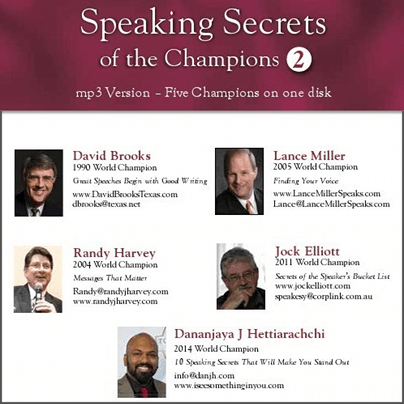 Speaking Secrets of the Champions 50040