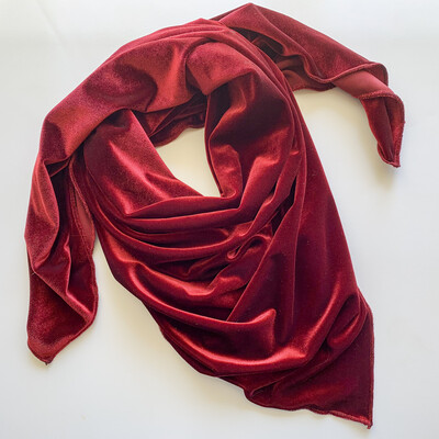 Lucious Wine Velvet Ladies Scarf