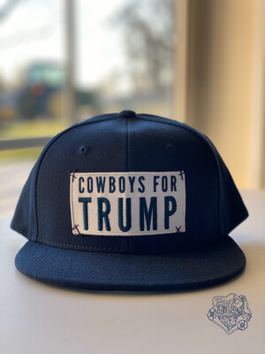 "Navy Blue ""Cowboys For Trump"" SnapBack Hat"