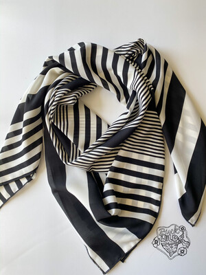 Stripe Ladies Fashion Scarf Wild Rag