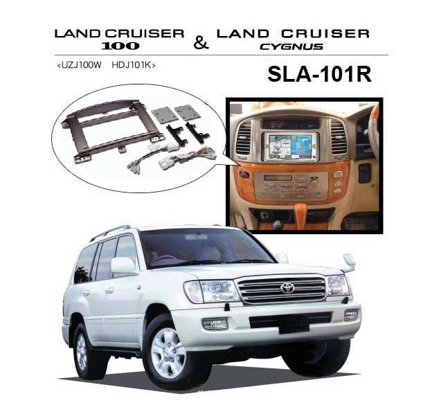 2DIN + Адаптар Toyota Landcruiser 100 (2002-2007)