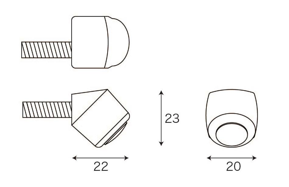 Размеры камеры заднего вида