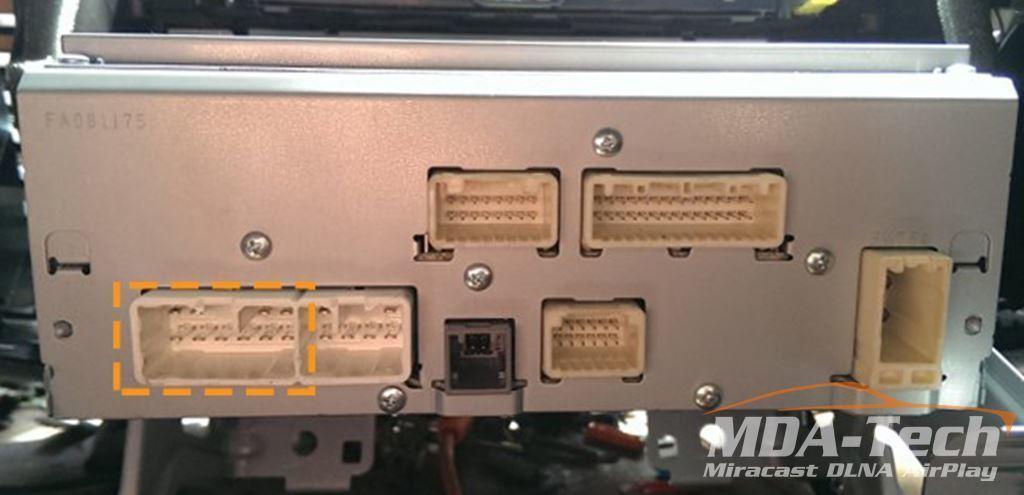 Пример разъема на магнитоле Toyota Venza