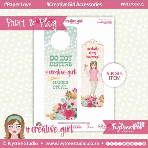 19/CG/A/1 - #Creativegirl ACCESORIES - Door hanger and Bookmark - February 2019