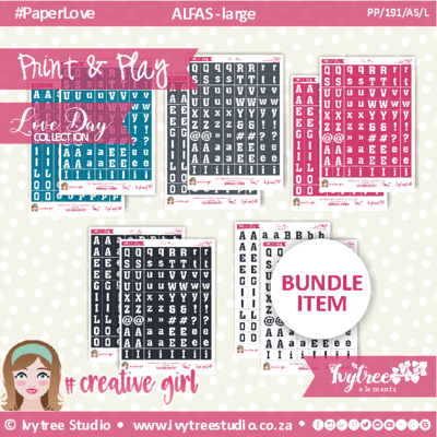 PP/191/AS/L - Print&Play - CUTE CUTS - Alfas/Large - Love Day Collection