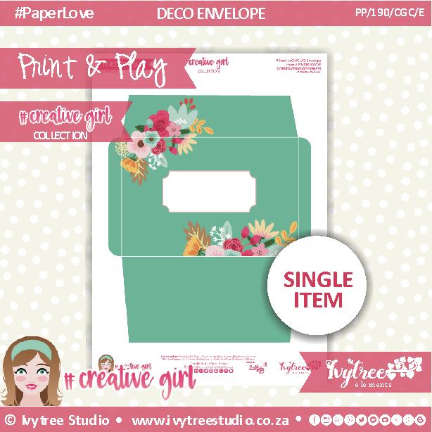 PP/190/CGC/DE- Print&Play - JUST WRITE - DECO ENVELOPE - Creative Girl Collection
