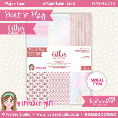 PP/194/PL/C - Print&Play - Esther Paperlove Core Bundle - (A4 x 6)