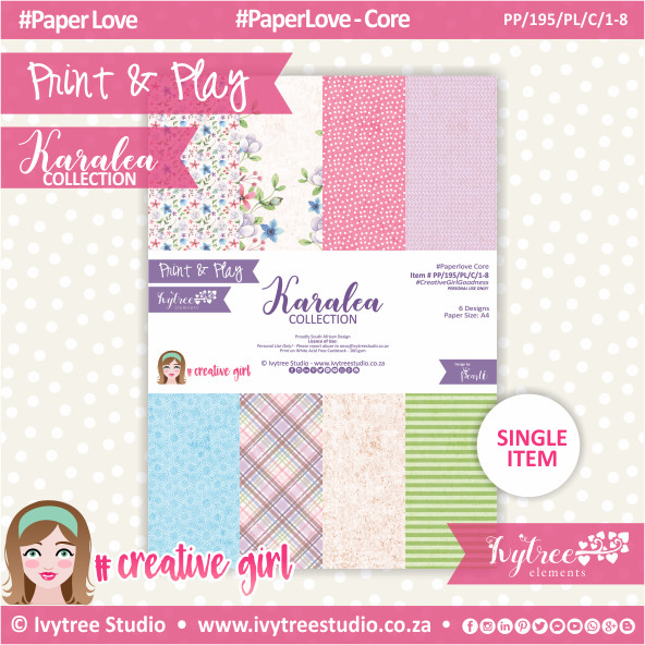 PP/195/PL/C - Print&Play - Karalea Paperlove Core Bundle - (A4 x 8)