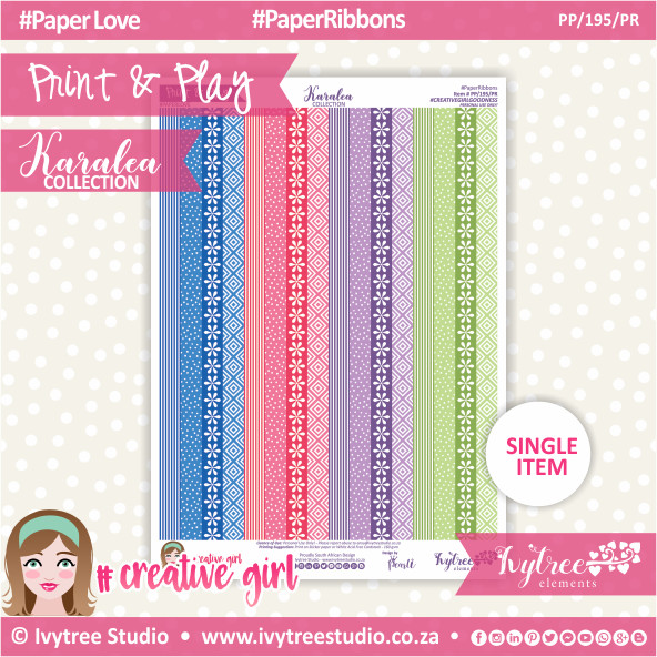PP/195/PR - Print&Play - Paper Ribbons - Karalea Collection