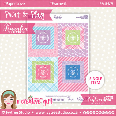 PP/195/FI - Print&Play - Frame-it - Karalea Collection