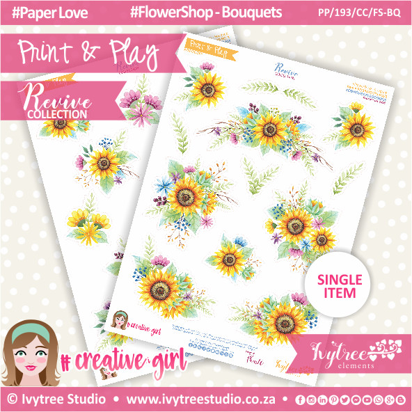 PP/193/CC/FS-BQ - Print&Play - CUTE CUTS - Flower Shop-Bouquets - Revive Collection