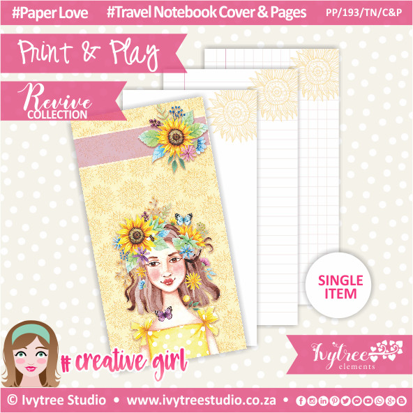 PP/193/TN/C&P - Print&Play - Travel Notebook - Cover&Pages - Revive Collection