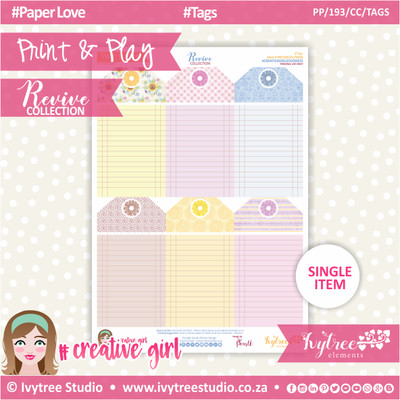 PP/193/CC/TAG - Print&Play - CUTE CUTS - Tags - Revive Collection