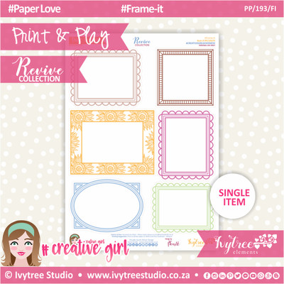 PP/193/FI - Print&Play - Frame-It - Revive Collection