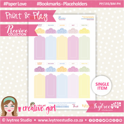 PP/193/BM-PH - Print&Play - Bookmarks-Placeholders - Revive Collection