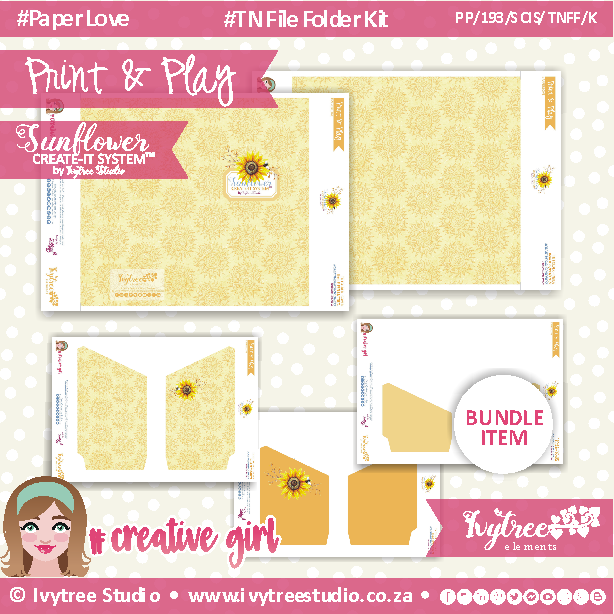 19/SCIS/TNFF/K - Sunflower Create-It Kit - TN File Folder Kit