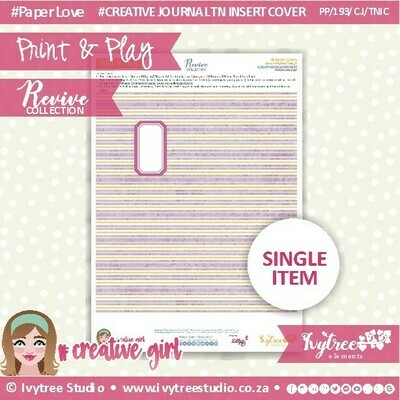 PP/193/TN/C&P/2 - Print&Play - Travel Notebook - Cover&Pages - Revive Collection - Creative Journal Label Edition
