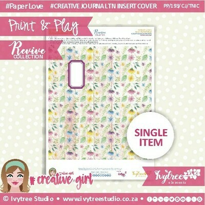 PP/193/TN/C&P/6 - Print&Play - Travel Notebook - Cover&Pages - Revive Collection - Creative Journal Label Edition