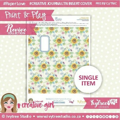 PP/193/TN/C&P/7 - Print&Play - Travel Notebook - Cover&Pages - Revive Collection - Creative Journal Label Edition