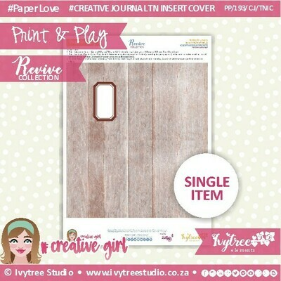 PP/193/TN/C&P/8 - Print&Play - Travel Notebook - Cover&Pages - Revive Collection - Creative Journal Label Edition