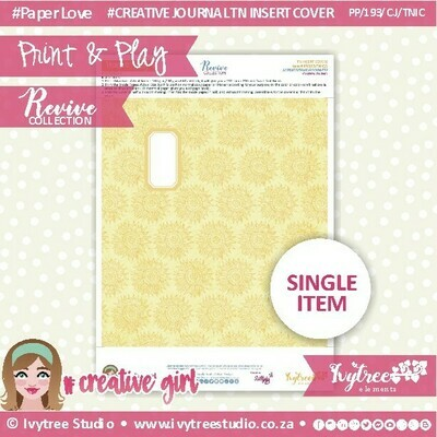 PP/193/TN/C&P/9 - Print&Play - Travel Notebook - Cover&Pages - Revive Collection - Creative Journal Label Edition - FULL SET Plus BONUS LABELS