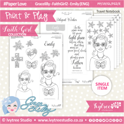 PP 19 GL FG2 KIT - Print&Play - #FaithGirl KIT - Emily