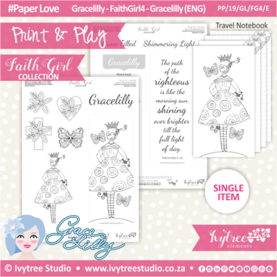 PP 19 GL FG4 KIT - Print&Play - #FaithGirl KIT - Gracelilly