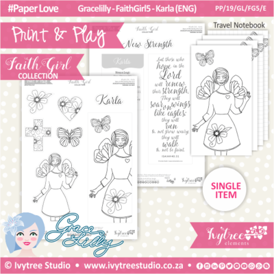 PP 19 GL FG5 KIT - Print&Play - #FaithGirl KIT - Karla