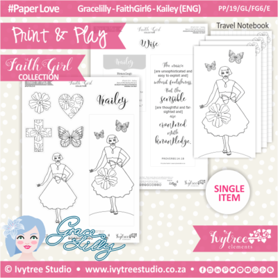 PP 19 GL FG6 KIT - Print&Play - #FaithGirl KIT - Kailey