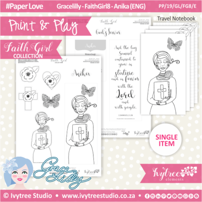 PP 19 GL FG8 KIT - Print&Play - #FaithGirl KIT - Anika