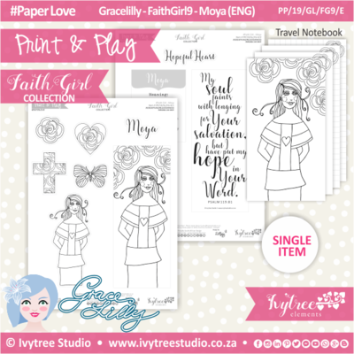 PP 19 GL FG9 KIT - Print&Play - #FaithGirl KIT - Moya