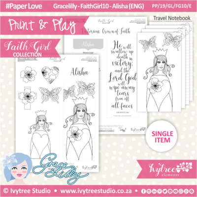 PP 19 GL FG10 KIT - Print&Play - #FaithGirl KIT - Alisha
