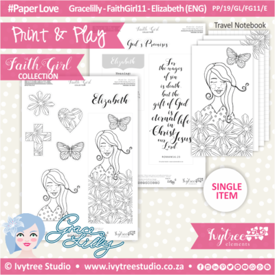 PP 19 GL FG11 KIT - Print&Play - #FaithGirl KIT - Elizabeth