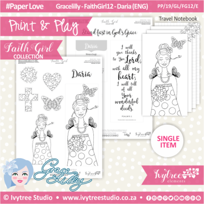 PP 19 GL FG12 KIT - Print&Play - #FaithGirl KIT - Daria