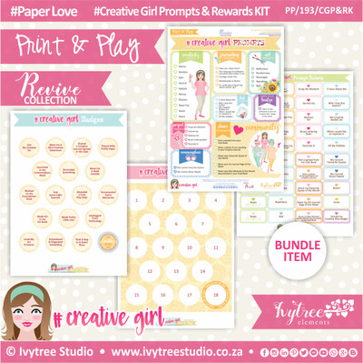 PP/193/CGP&RK - Print&Play - Creative Girl Prompts & Rewards KIT - Revive Collection