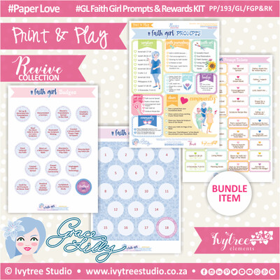PP/193/GL/FGP&RK - Print&Play - Gracelilly - Faith Girl Prompts & Rewards KIT - Revive Collection