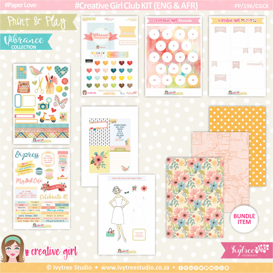 PP/196/CGCK - Print&Play - Creative Girl Club KIT (Eng/Afr) - Vibrance Collection